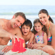 Stock Photo: family at the beach