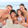 family at the beach — Stock Photo
