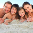 Family at the beach — Stock Photo #10852103