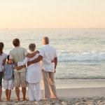 Beautiful family at the beach — Stock Photo
