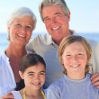 Grandparents with their grandchildren — Stock Photo #10854570