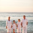 Portrait of a family beside the sea — Stock Photo