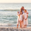 Portrait of an adorable family — Stock Photo