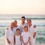 Portrait of a happy family — Stock Photo