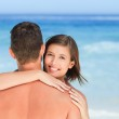 Lovers at the beach — Stock Photo