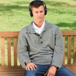 Relaxed man listening to some music — Stock Photo #10857018