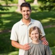 Royalty-Free Stock Photo: Son and his father in the park
