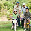 Family with their bikes — Stock Photo #10857149