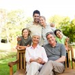 Stock Photo: Portrait of happy family