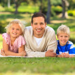 Father with his children — Stock Photo #10857273