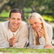 Couple in the park — Stock Photo #10857349