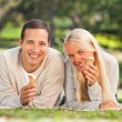Couple in the park — Stock Photo