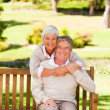 Elderly couple in the park — Stock Photo #10858096