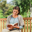 Stock Photo: Lovely woman reading