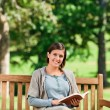 Lovely woman reading — Foto Stock