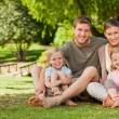 Stock Photo: Lovely family in park