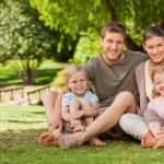 Lovely family in the park — Stock Photo