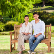 Stock Photo: Couple on bench