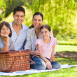 Family picnicking in the park — Stock Photo #10859936