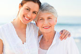 Smiling daughter with her mother — Stock Photo