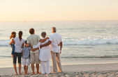 Beautiful family at the beach — Foto Stock