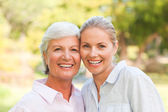 Mature mother with her daughter — Stock Photo