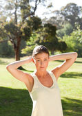 Woman after the gym — Stock Photo