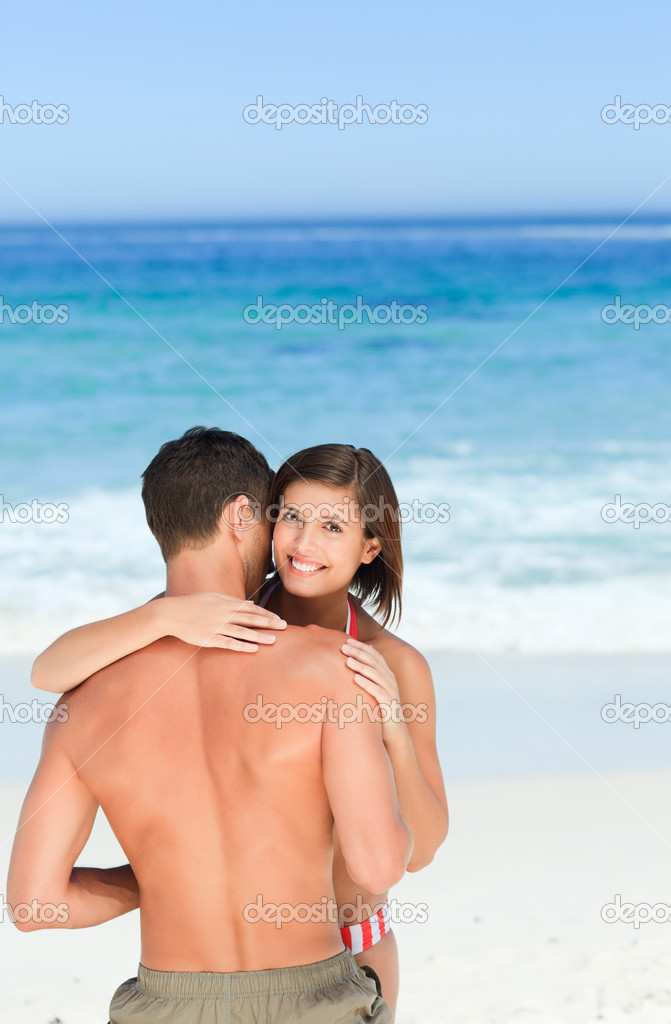 Lovers at the beach — Stock Photo #10855168