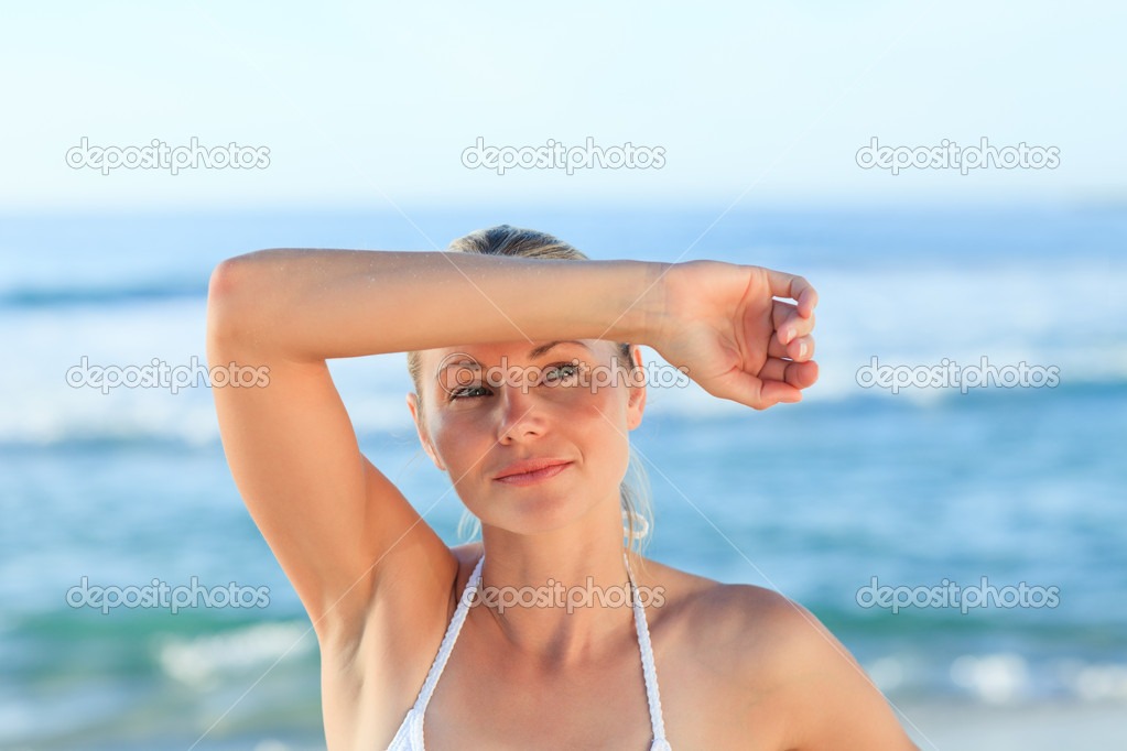 Sexy woman at the beach — Stock Photo #10856210