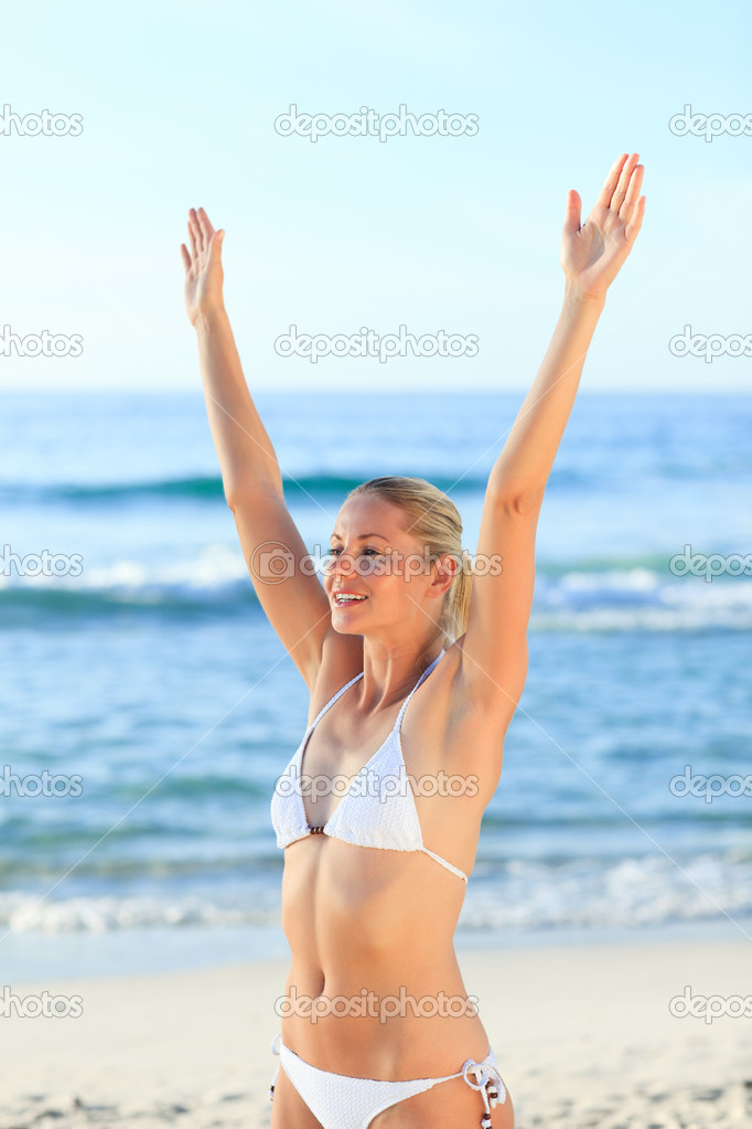 Sexy woman at the beach — Stock Photo #10856212