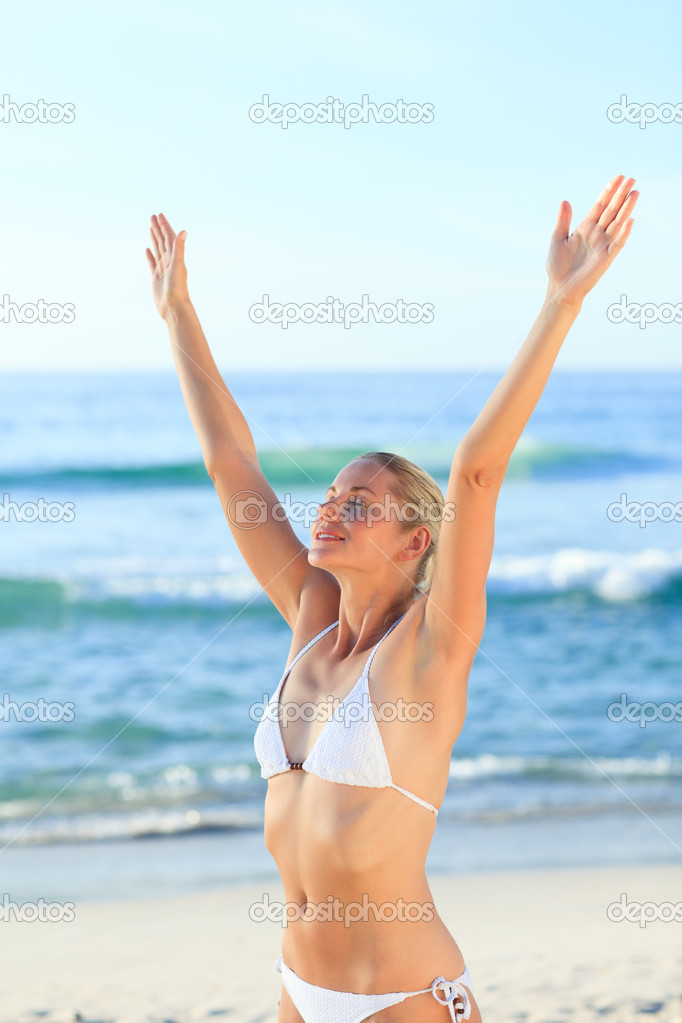 Sexy woman at the beach — Stock Photo #10856215