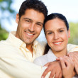 Happy couple in the park — Stock Photo #10860192