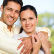 Happy couple in the park — Stock Photo #10860195