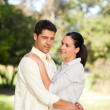 Happy lovers in the park — Stock Photo #10860242
