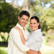 Happy lovers in the park — Stock Photo #10860246