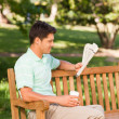 Man reading the newspaper — Stock Photo