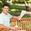 Man with a  paper — Stock Photo