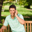 Young handsome man phoning — Stock Photo #10860855