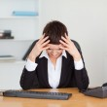 Tired secretary — Stock Photo
