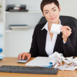 Professional office worker doing accountancy — Stock Photo