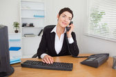 Secretary answering the phone — Stock Photo