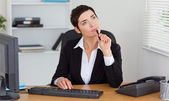 Pensive secretary — Stock Photo