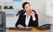 Thoughtful secretary — Stock Photo