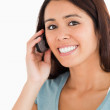 Portrait of a lovely woman on the phone — Stock Photo