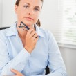 Portrait of a serious businesswoman — Stock Photo