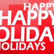Creative image of happy holidays concept - Stock Photo