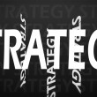 Creative image of strategy concept — Stock Photo