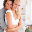 Portrait of a young couple posing — Stock Photo