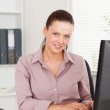 Kind businesswomin office — Stock Photo #11185136