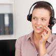 Smiling Young woman with headphones — Stock Photo